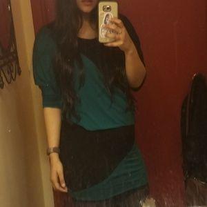 Color Block Bubble dress